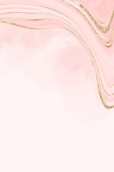 Gold and pink fluid patterned background