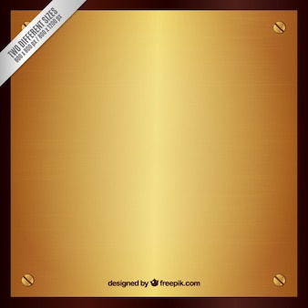 Gold plaque background