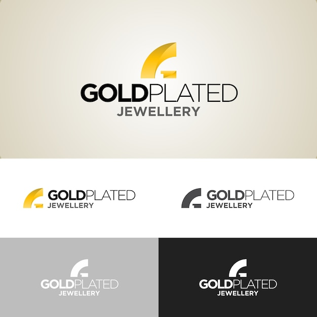 Шаблон дизайна логотипа с золотым покрытием