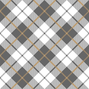 Gold platinum checkered plaid seamless pattern.