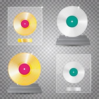 Gold and platinum lp set