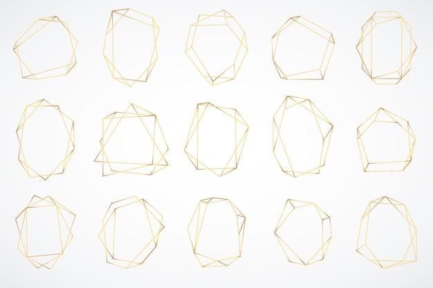 Gold polygonal frames