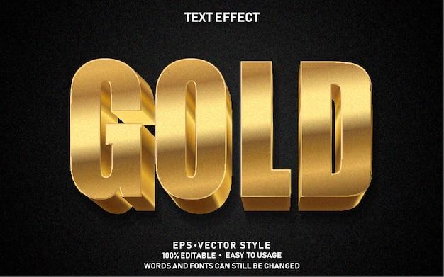 Редактируемый текстовый эффект gold premium
