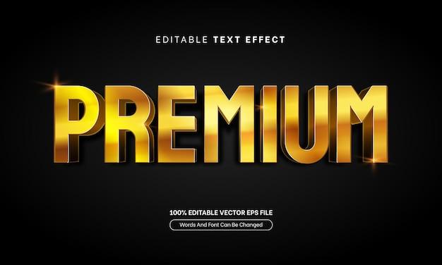 Золотой премиум текстовый эффект редактируемый золотой текстовый эффект стиля шрифта
