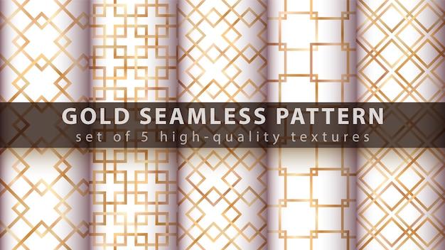 Gold princess glitter seamless pattern.