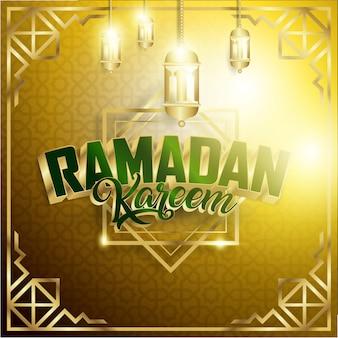 Gold ramadan kareem background