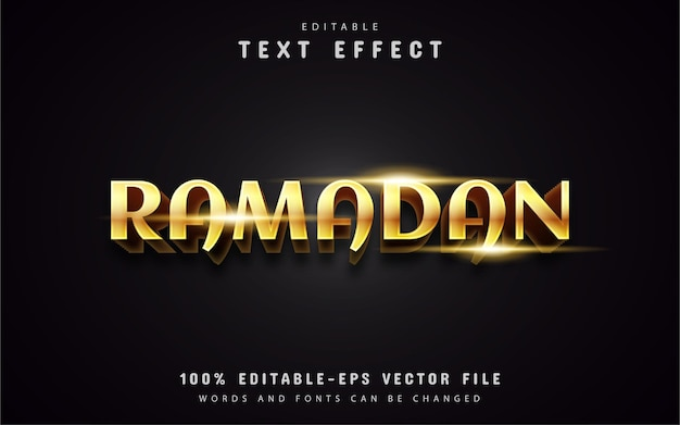 Gold ramadan text effects