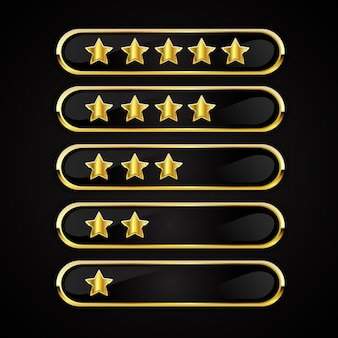 Gold ratings buttons