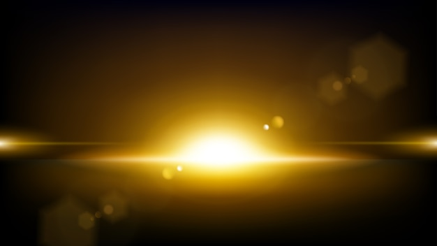 Gold rays rising background