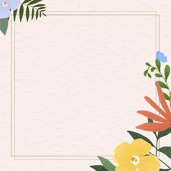 Gold rectangle leaf frame