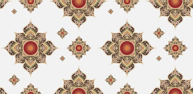 Gold and red thai pattern.