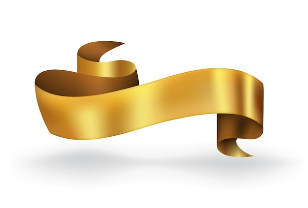 Gold ribbon banner high quality for luxury
