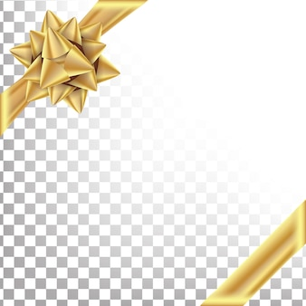 Gold ribbon with bow