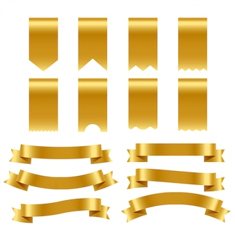 Gold ribbons and labels pack