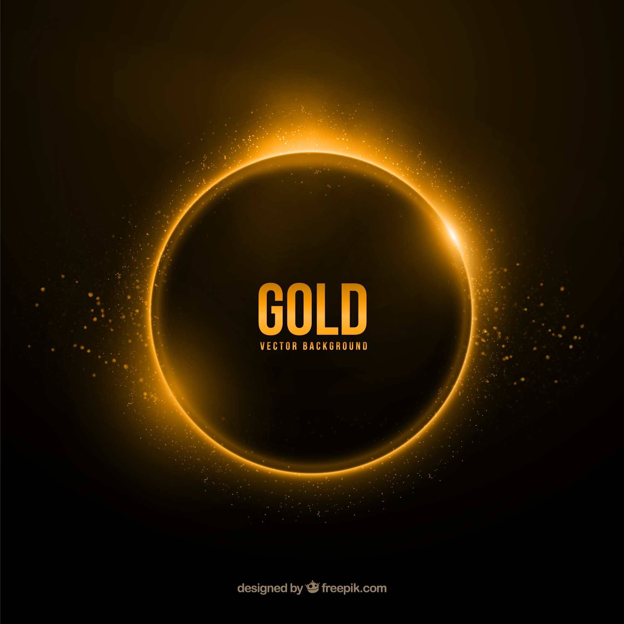 Gold ring background