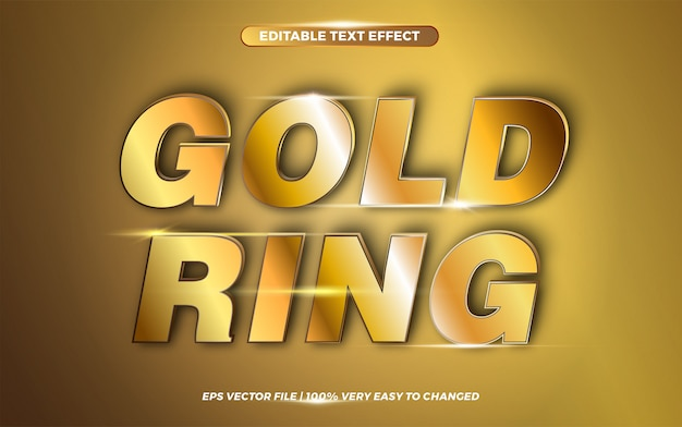 Gold ring words, text effect style  concept
