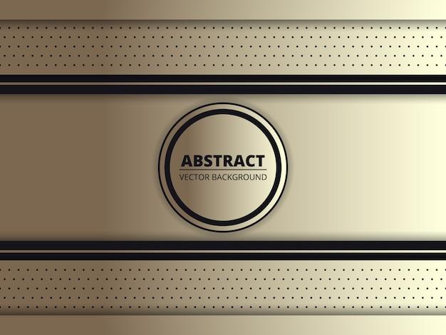 真ん中にあなたのブランドの名前のサークルとゴールドフレームとゴールドロイヤル抽象的な背景