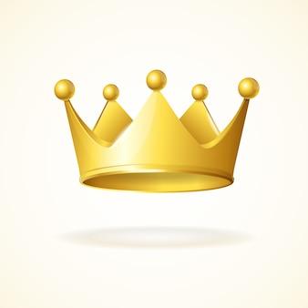 白で隔離される金の王冠