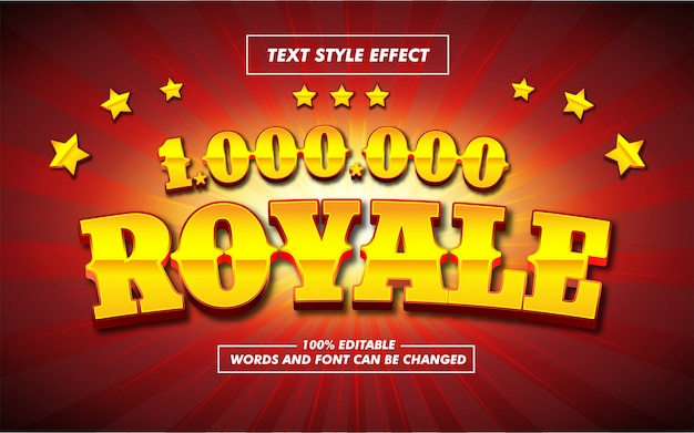 Gold royale bold text style effect