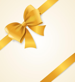 Gold satin ribbon. luxury design element.   illustration