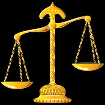 Gold scale of justice