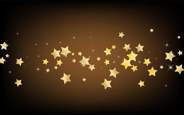ゴールドきらめき星ベクトル茶色の背景。効果宇宙の壁紙。シャインパターン。ゴールデンアブストラクトスターリーテクスチャ。