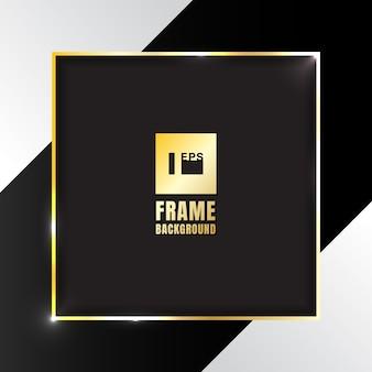 Gold shiny square frame