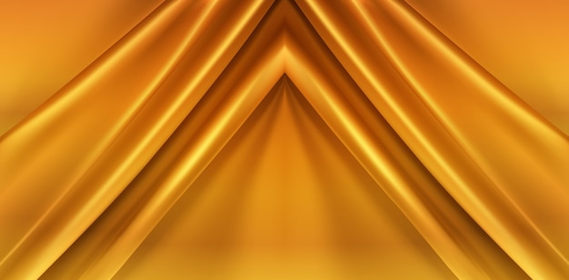 Gold silky fabric abstract background