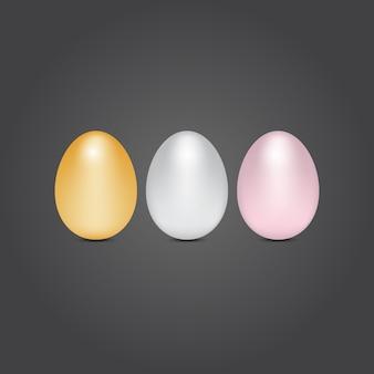 금은 및 청동 계란