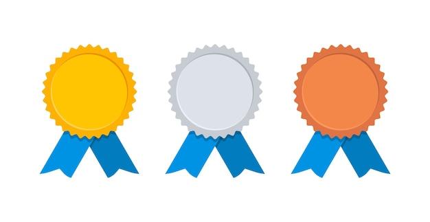 블루 리본 골드, 실버 및 브론즈 메달.