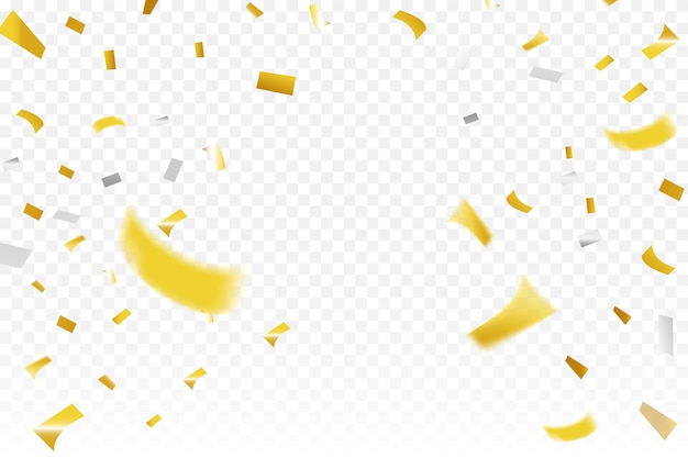 Gold and silver confetti