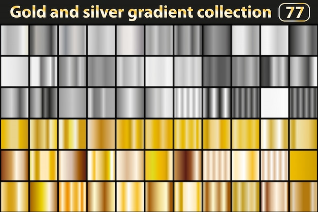 Gold and silver gradient collection.