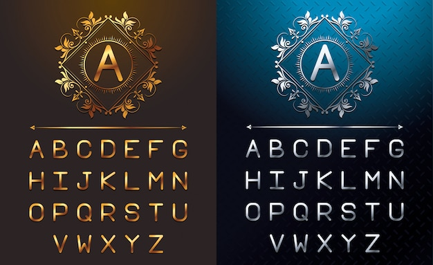 Gold and silver letters
