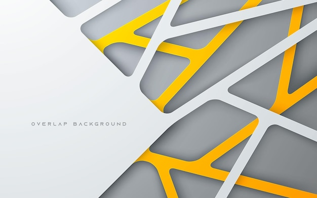 Gold and silver line overlap layer background multi dimension