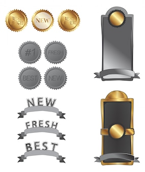 Gold silver tag label