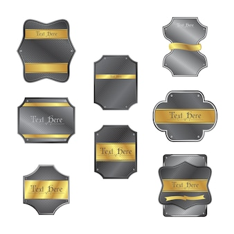 Gold silver tag template