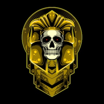 Gold and skull