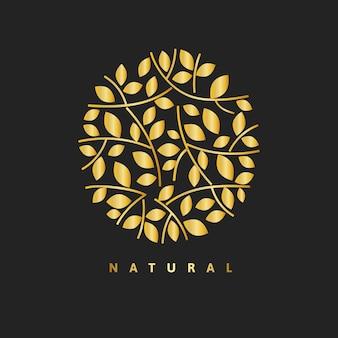 Modello di logo della spa d'oro, set di vettori per il design del marchio aziendale di salute e benessere estetico