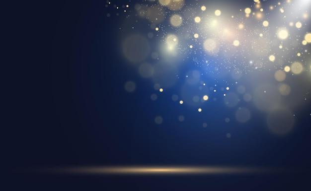 골드 반짝임, 밝은 빛의 보케.