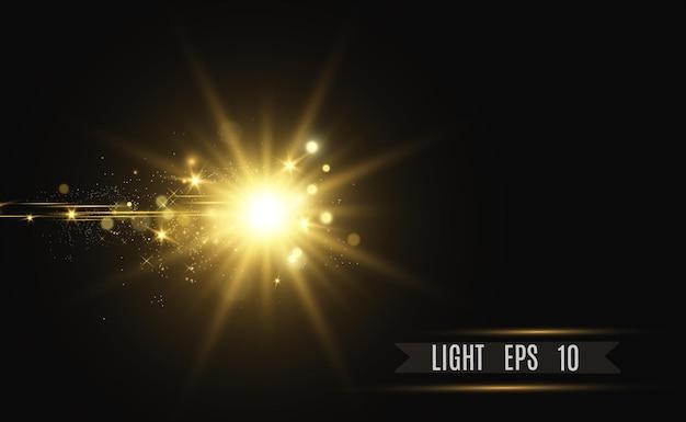 골드 반짝임, 밝은 빛.