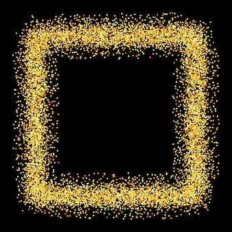 Gold sparkles glitter background.