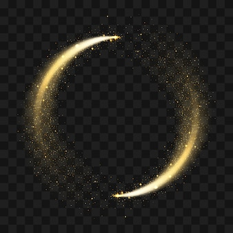 Gold sparkling glitter circle.