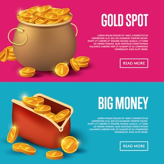 Gold spot and big money baner web set