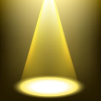 ゴールドスポットライト輝く