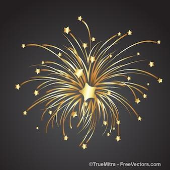 Oro stella esplode in quelle più piccole