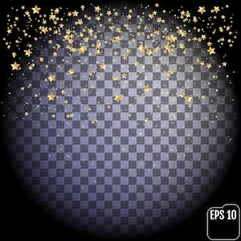 金の星は透明な背景に分離されました。