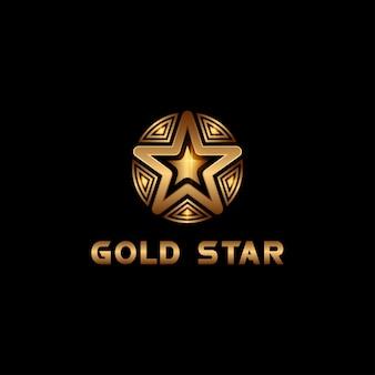 Gold star logotype