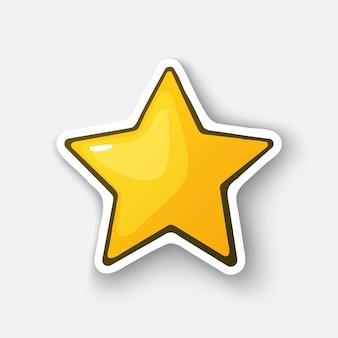 金色的星星黄色的星星胜利者最喜欢的符号矢量插图