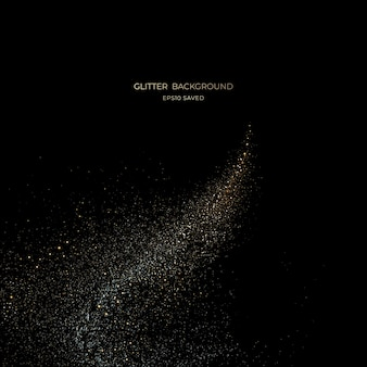Gold stardust light, glitter background