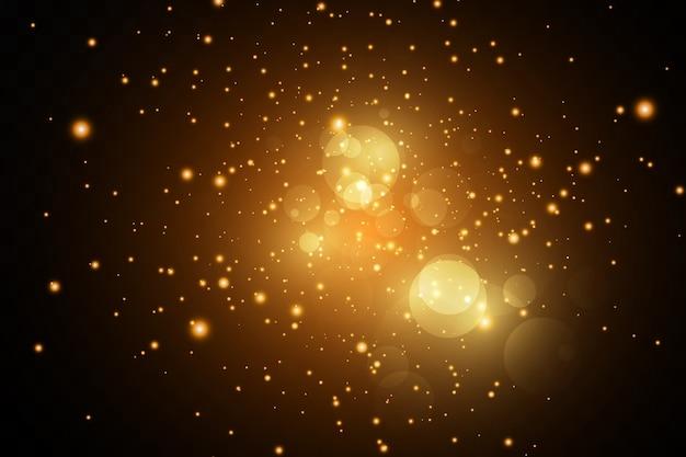 Золотой свет звездной пыли, сверкающий